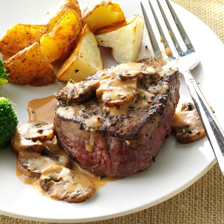 Tenderloin Steak Diane Recipe -Sometimes, I add more mushrooms to this recipe when my son's eating dinner—he loves them, and they are just fantastic with the steak. — Carolyn Turner, Reno, NV