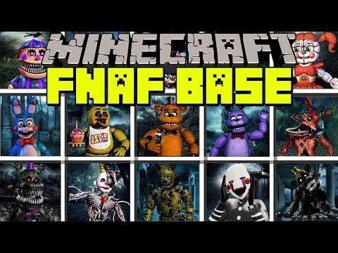 Minecraft Five Nights At Freddys Mod Fnaf Monster Base Challenge Modded Mini Game Education Minecraft Mods Minecraft Mini Games