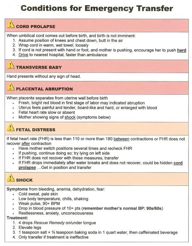 Birth Cheat Sheet-Emergency
