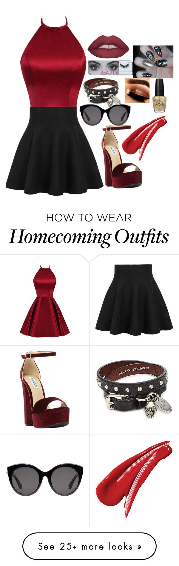 """Untitled #505"" by kajadelic on Polyvore featuring Steve Madden, Gucci, Alexander McQueen and OPI"