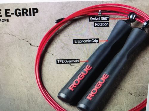 Jump Ropes 62134: Rogue Fitness Wod Weight Lifting Strength Crossfit Black Red E-Grip Jump Rope -> BUY IT NOW ONLY: $34.95 on eBay!