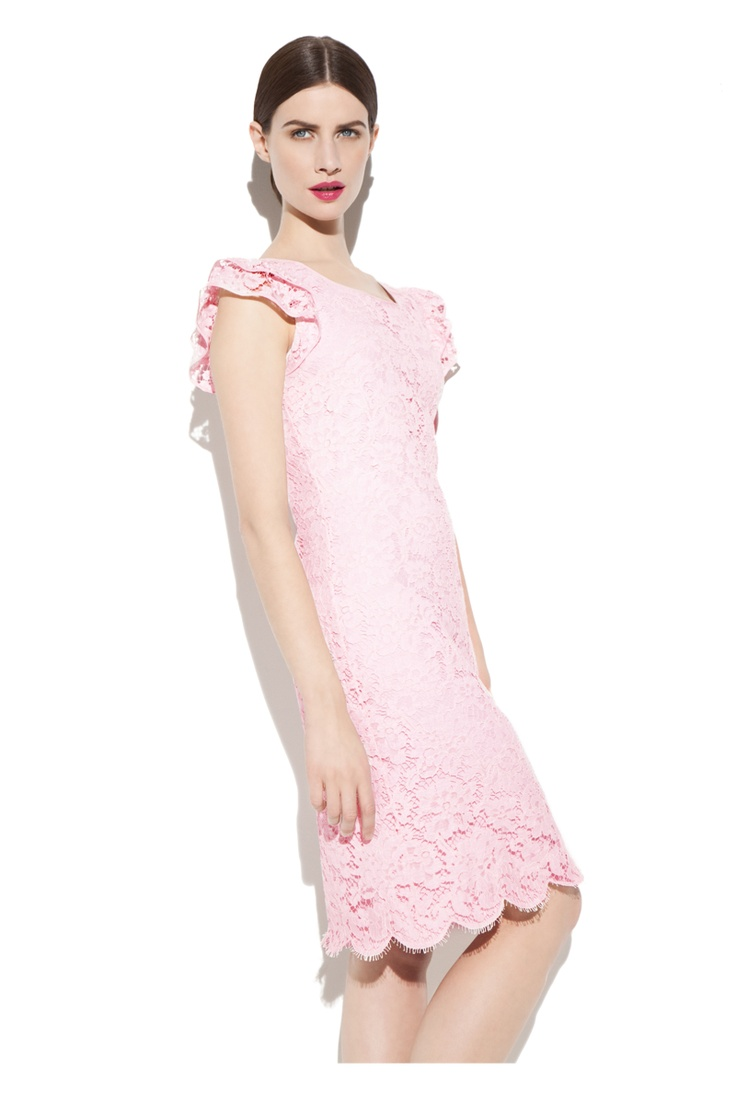 Pearl Orchid Lace Dress