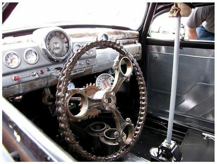 rat rod conn rod m c chain steering wheel hi reach skull shift too kool art of rat rod. Black Bedroom Furniture Sets. Home Design Ideas