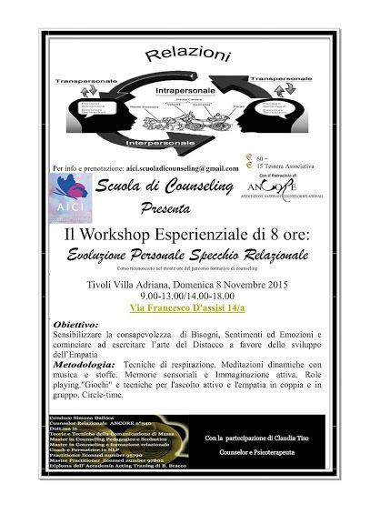 SCUOLA COUNSELING  GRUPPI  A.I.C.I Roma Counseling :  SCUOLA DI COUNSELING AICIEVOLUZIONE PERSONALE SPE...
