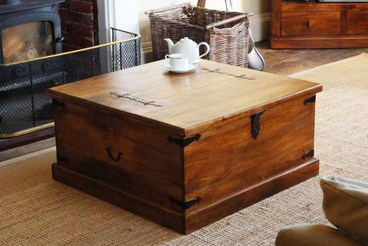 Trunk Coffee Table | Store Many Things & Give A Classic Look -  chest coffee table
