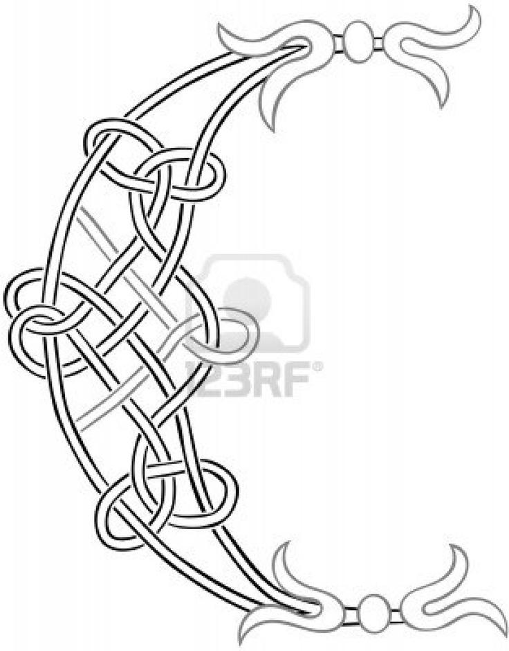 """Celtic knot """"C."""""""