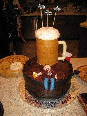 17 Best Images About Beer Cakes On Pinterest 50th