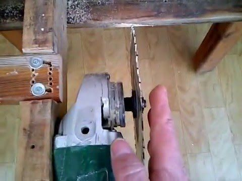 spiral taslama motorunu.ağaç kesme motoruna dönüstürmek.. - YouTube