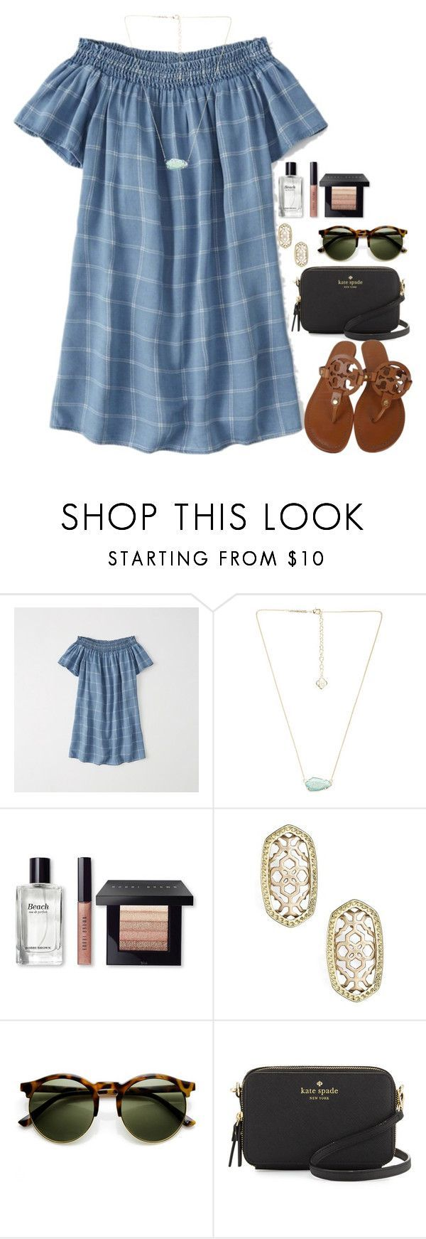 """Going out to dinner:)"" by flroasburn on Polyvore featuring Abercrombie & Fitch, Kendra Scott, Bobbi Brown Cosmetics, Kate Spade and Tory Burch"