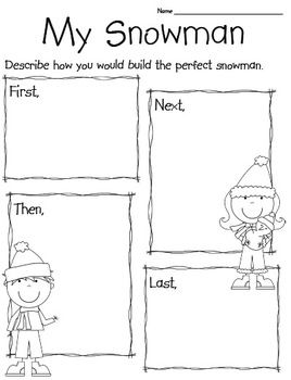 Winter Writing -- can have students type up afterward!