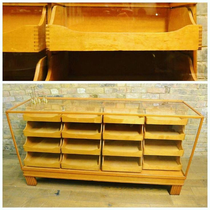 Haberdashery Counters at D and A Binder I We specialise in these larger display pieces! Does your shop need a large shopfitting? Could these vintage oak haberdashery units be the display unit for you? Come to our store or check out our Restored section on our website for more.