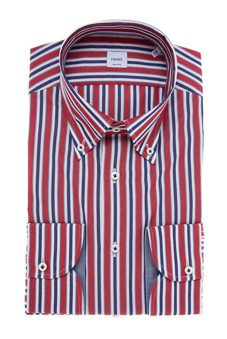 Carrel Shirt Camicia Càrrel righe collo Button Down Collezione Spring Summer 2017