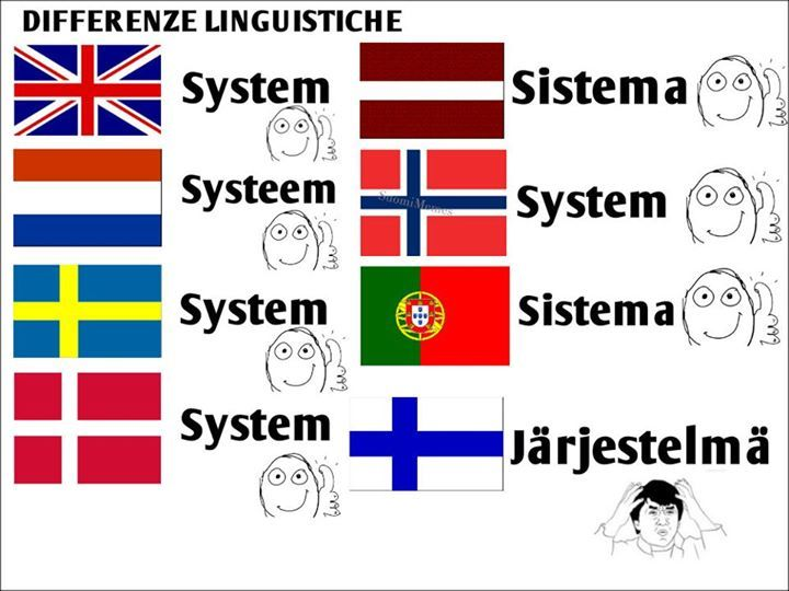 "Yes, we say ""järjestelmä"" but we also say SYSTEEMI, wich means quite same."