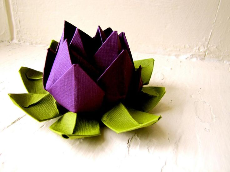 Paper Lotus, Purple and Green, Wedding Decor, Wedding- I just found this neat! I could learn to do this
