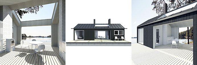 Sunhouse XS1 - triptych. Architect: Jarkko Könönen.