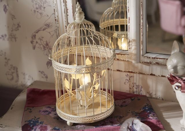 lampe cage oiseaux amadeus d coration de charme pour int rieur cosy abats jour lampes. Black Bedroom Furniture Sets. Home Design Ideas