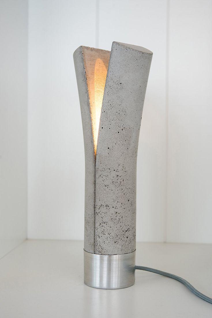 Release + Split Lamp: Unique Lighting Ideas Made Of Concrete And Aluminum Amazing Design