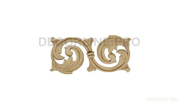 ОРНАМЕНТЫ из древесной пасты OR-48 Размер/Size: 48x110x7. Резной декор из древесной пасты, древесной пульпы, полимера, полиуретана, ППУ, МДФ, прессованный декор, декор из массива, декор из дерева