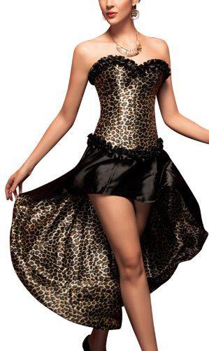 Damen Sexy Leoparden-Corsagen-Kleid zu Karneval, Halloween & Fasching   ca €11