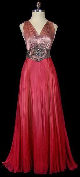 Dress, Gilbert Adrian, 1930s, The Frock