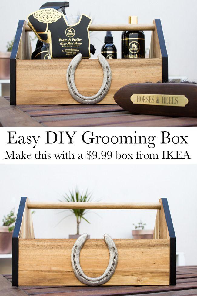 My 9 99 Diy Grooming Box Tack Room Horse Tack Rooms Tack Room