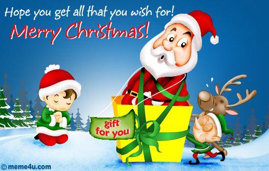 Funny merry christmas greetings - 3 PHOTO!