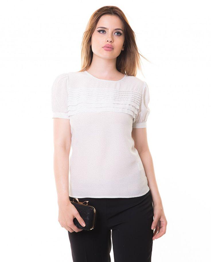 Karaca Bayan Bluz - Ekru #womensfashion #blouses #bluz #karaca #ciftgeyikkaraca www.karaca.com.tr