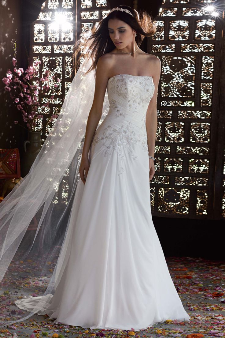 62 best David\'s Bridal images on Pinterest | Wedding frocks, Short ...