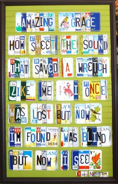 .: Wall Art, Crafts Ideas, Wedding Songs, License Plates, Poster, Amazing Grace, Cool Ideas, Licen Plates Art, A Quotes
