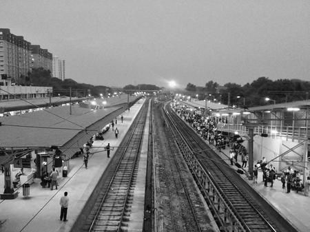 Top View of Railway Station Photo by Akhilesh Raja — National Geographic Your Shot