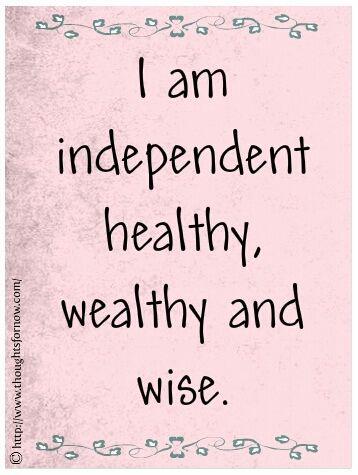 health wealthy affirmation