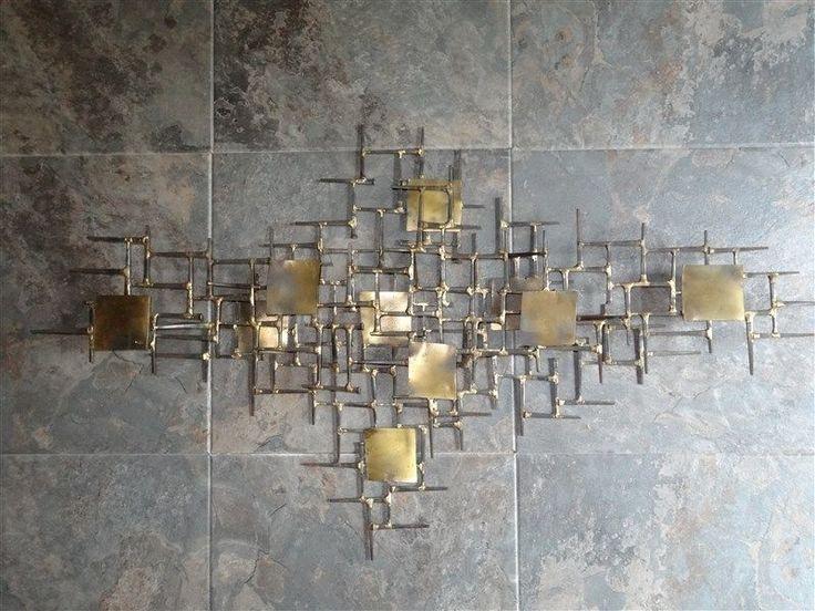 Eames Jere MADMEN ERA Welded Brutalist Abstract Industrial Wall Sculpture