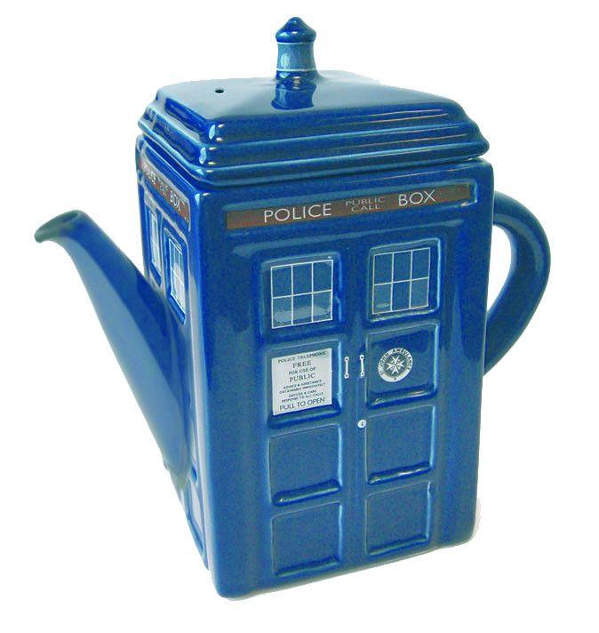 Doctor Who Teekanne Tardis   coole Tardis -Teekanne aus der beliebten TV-Serie `Doctor Who`  - Offiziell lizenziert - Material: Keramik Doctor Who Teekannen - Hadesflamme - Merchandise - Onlineshop für alles was das (Fan) Herz begehrt!