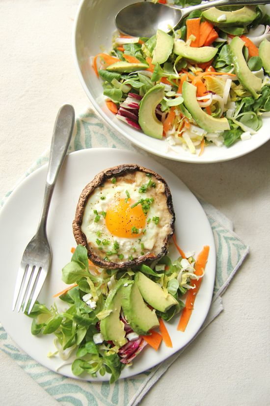 Parmesan and Portobello Baked Eggs