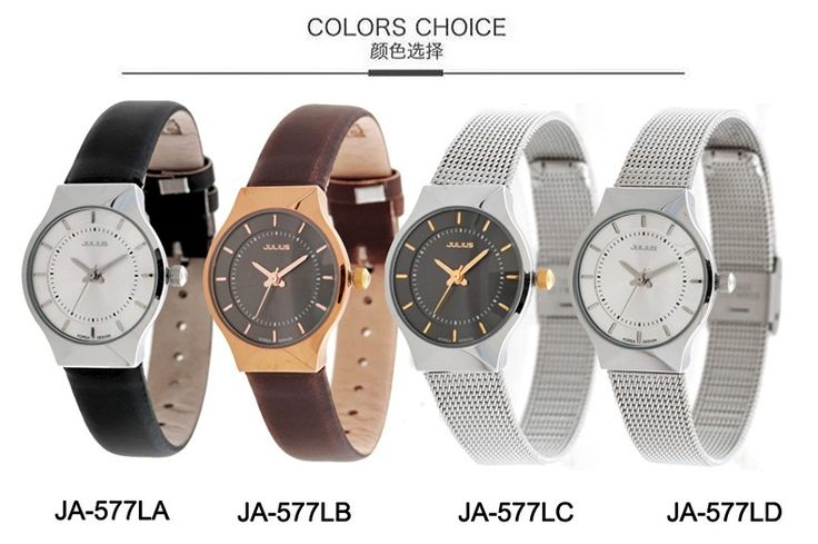 5 Colors Women's Watch Japan Mov Fashion Hours Woman Lady Dress Bracelet Thin Stainless Steel Business Gift Mother's Gift Box