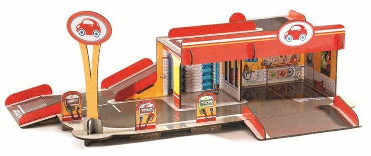 Układanka przestrzenna 3D Djeco - Garaż