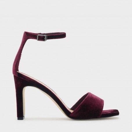 Purple Open-Toe Heel Sandals | CHARLES & KEITH