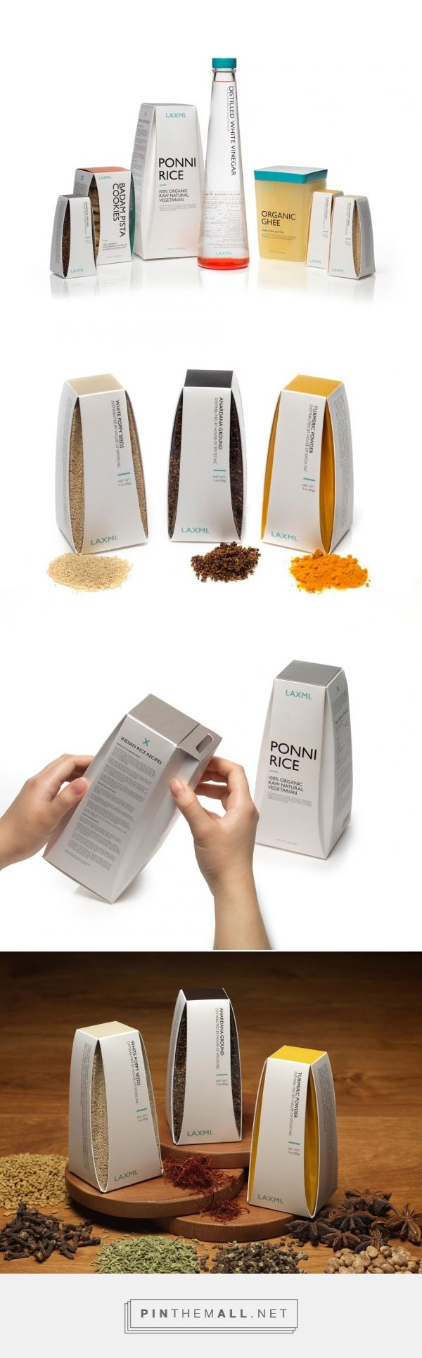 Laxmi Indian Food (Student Project)  - Packaging of the World - Creative Package Design Gallery - http://www.packagingoftheworld.com/2016/05/laxmi-indian-food-student-project.html
