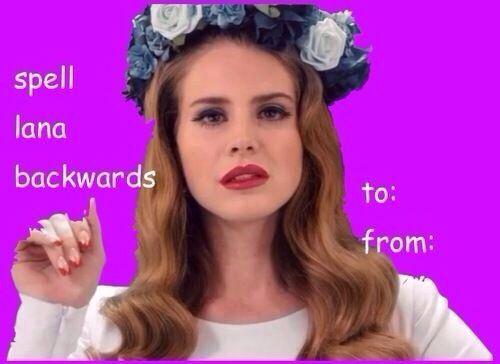 Lana Del Rey Valentine Card Valentine Day Cards