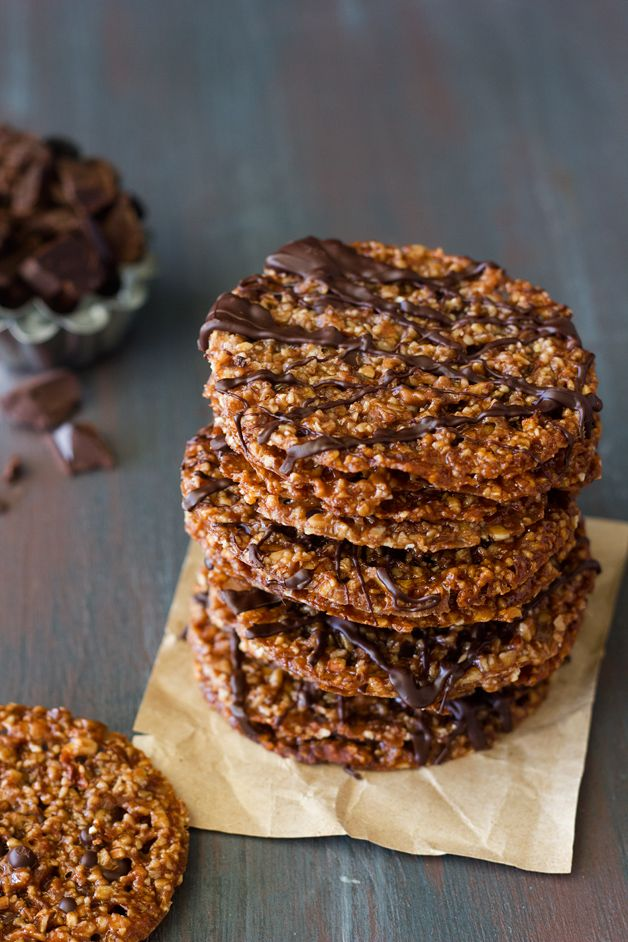 Confession #139: I'm Stuck in Holiday Gear... Dark Chocolate Almond Florentines