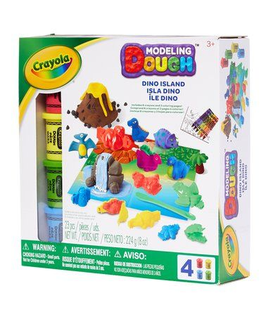Another great find on #zulily! Crayola Dino Island Modeling Dough Playset #zulilyfinds
