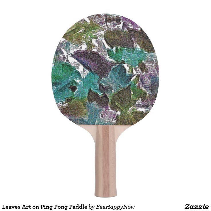 Leaves Art on Ping Pong Paddle