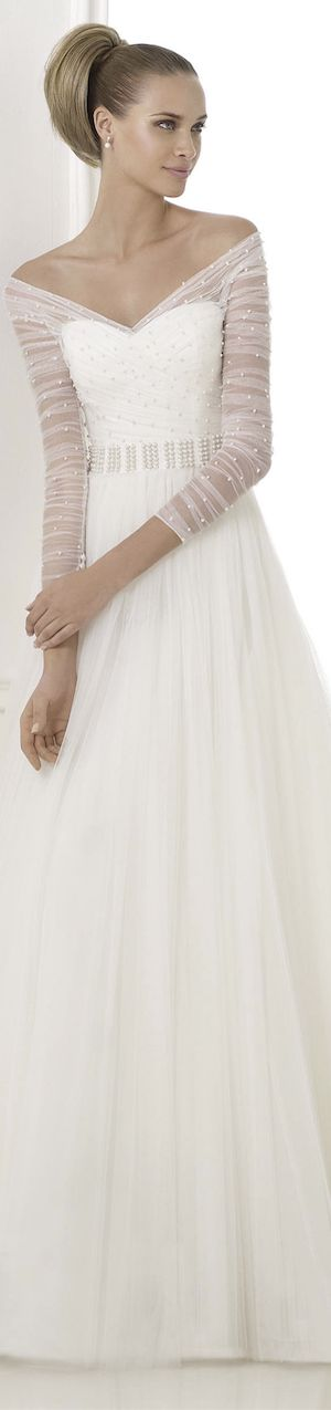 #White #Wedding #Gown  … 'Wedding Guide' App ♥ Free for a limited time …