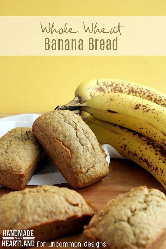 A warm and tasty treat for breakfast or a snack! Homemade banana bread! #recipe #banana