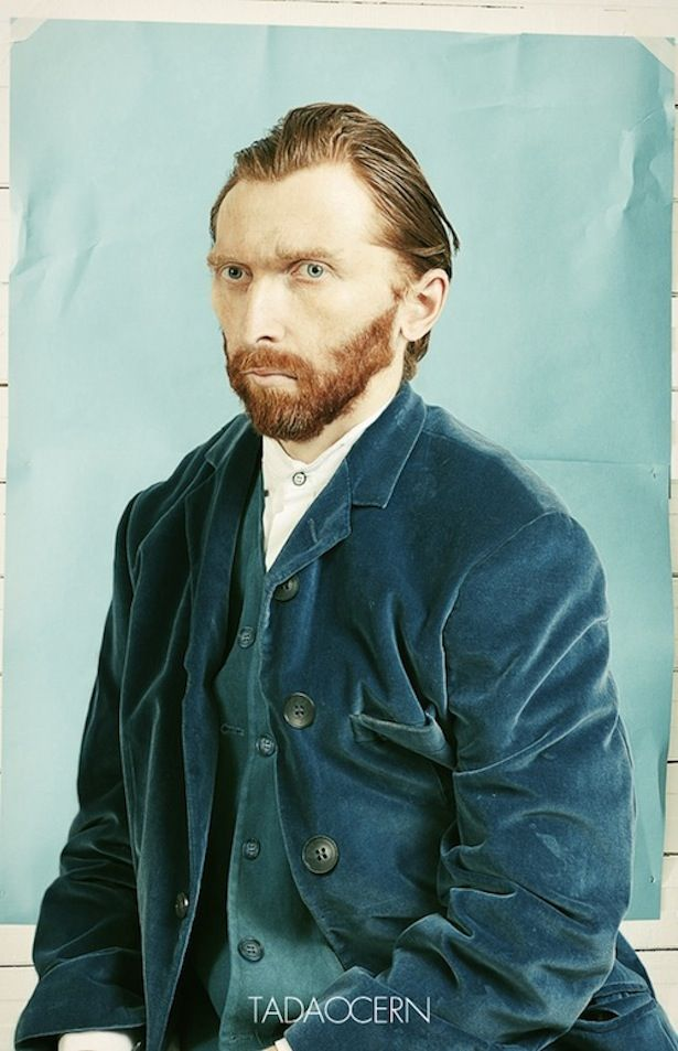Turning a photo into a self portrait by Van Gogh. An interesting experiment by Lithuanian architect and photographer Tadao Cern.