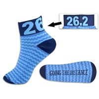 Yakety Yak! Running Socks 26.2 Going The Distance by RunTECHNOLOGY - You will love this running sock - its high tech, super comfortable, moisture wicking and has arch support. What more would you want from a running sock?