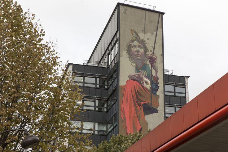 43 best images about street art on pinterest trees paris and queen - La porte d italie sarreguemines ...