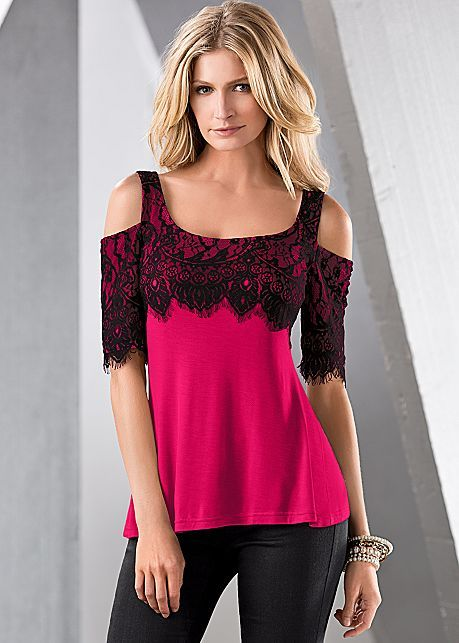 %PC% Lace cold shoulder top from VENUS