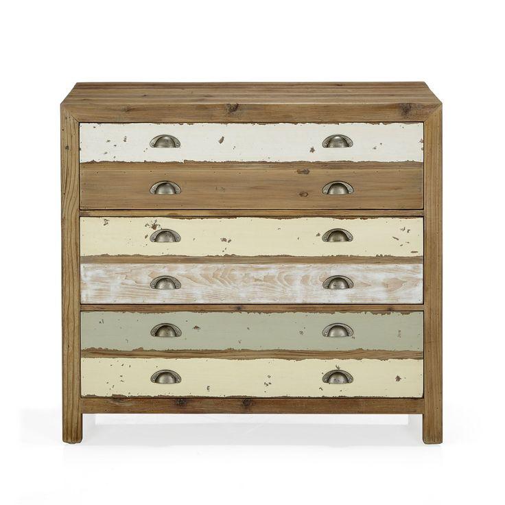 Commode 3 tiroirs Multicolore clair - Used - Les commodes - Commodes, chiffonniers et coiffeuses - Tous les meubles - Décoration d'intérieur - Alinéa