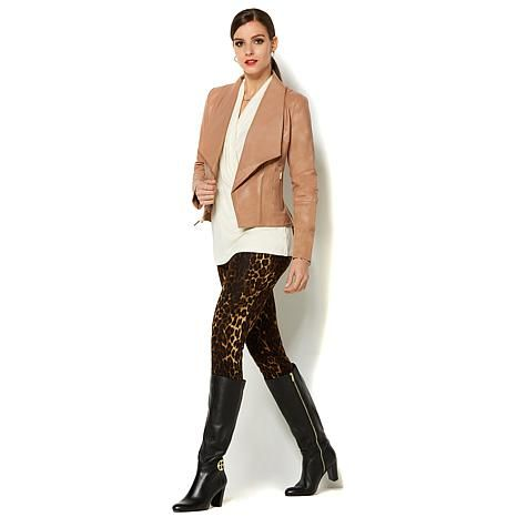 Shop IMAN Platinum Genuine Leather Moto Jacket 8509334, read customer reviews and more at HSN.com.